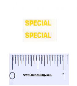 Decal 1/16 Massey Harris Combine SPECIAL Yellow (pair)