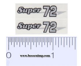 Decal 1/16 Massey Harris Combine Super 72 Silver, Black Outline (pair)