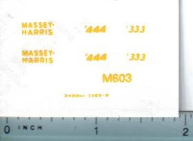 Decal 1/32 Massey Harris 444, 333 Decals