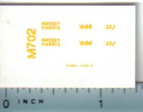 Decal 1/64 Massey Harris 444, 333