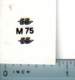 Decal 1/16 Massey Ferguson 65 Model Numbers