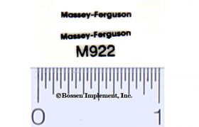 Decal Massey Ferguson - Black on Clear 5/8 inch