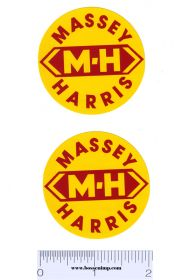 Decal Massey Harris Logo (Pair)