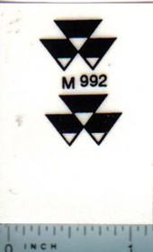 Decal Massey Ferguson Logo - Black on Clear 1/32