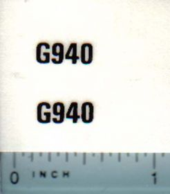 Decal 1/16 Minneapolis Moline G950 Model Numbers