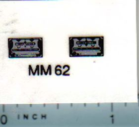 Decal 1/16 Minneapolis Moline Model Engine & Transmission Name Plate