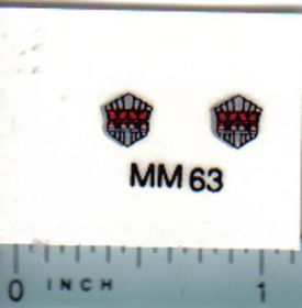 Decal 1/16 Minneapolis Moline Model Shell for Grille