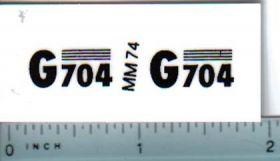 Decal 1/16 Minneapolis Moline G704 Model Numbers