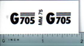 Decal 1/16 Minneapolis Moline G705 Model Numbers