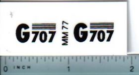Decal 1/16 Minneapolis Moline G707 Model Numbers