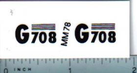 Decal 1/16 Minneapolis Moline G708 Model Numbers