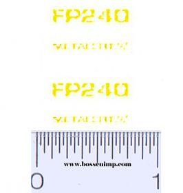 Decal 1/64 New Holland Forage Harvester FP240 Model Numbers