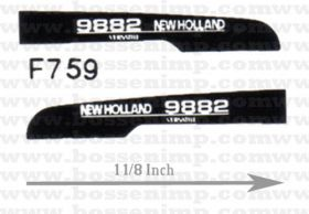Decal 1/64 New Hollad 9882 Hood Panels