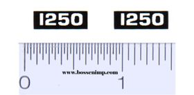 Decal 1/16 Oliver 1250 Model Numbers (Pair)