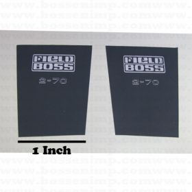 Decal 1/16 White 2-70 lower hood panels