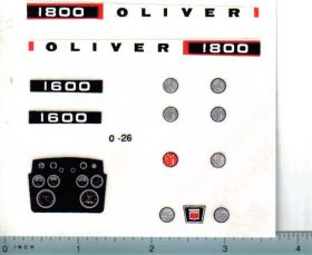 Decal 1/16 Oliver 1600 or 1800 Set with Dash & Lights