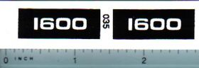 Decal 1/16 Oliver 1600 Model Numbers