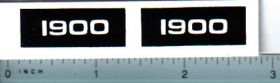 Decal 1/16 Oliver 1900 Model Numbers
