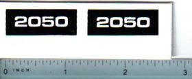 Decal 1/16 Oliver 2050 Model Numbers