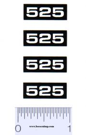 Decal 1/16 Oliver 525 Combine Model Numbers (4)