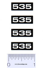 Decal 1/16 Oliver 535 Combine Model Numbers (4)