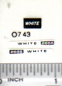 Decal 1/64 White 2655
