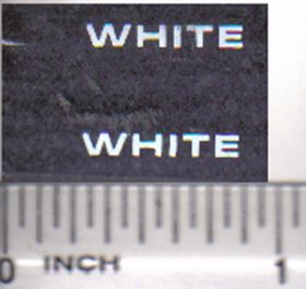 Decal White Logo 5/8 inch white