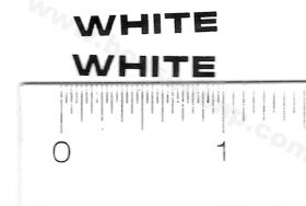 Decal White Logo 1/8 inch x 7/8 inch black
