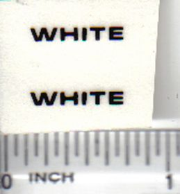 Decal White - Black Logo 5/8 inch