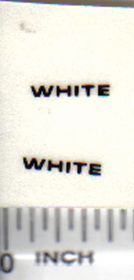 Decal White - Back Logo 3/8in.