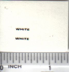 Decal White - Black Logo 5/16in.