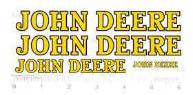 Decal John Deere A or 60 Pedal Tractor Set