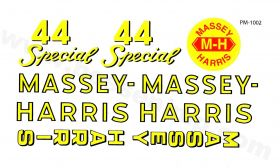 Decal Massey Harris 44 Special large Pedal Tractor