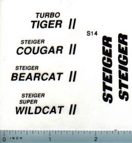 Decal 1/16 Steiger Tiger II, Cougar II, Bearcat II, Wildcat II Set (black)