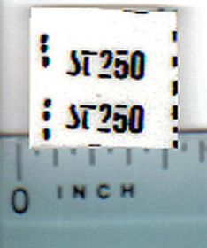 Decal 1/32 Steiger ST250 Model Number