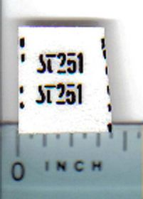 Decal 1/32 Steiger ST251 Model Number