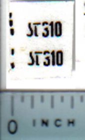 Decal 1/32 Steiger ST310 Model Number