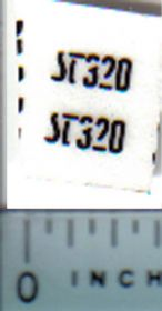 Decal 1/32 Steiger ST320 Model Number