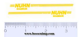 Decal Nuhn 5000 - Yellow (pair)