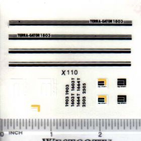Decal 1/64 Terra-Gator 1803 Set
