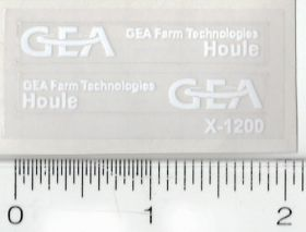 Decal 1/64 GEA Houle white