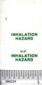 Decal Inhalation Hazard Small