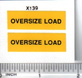 Decal Oversize Load - Black on Yellow Small