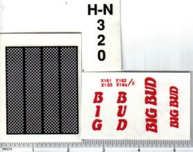 Decal 1/16 Big Bud H-N 320