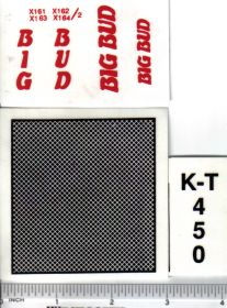 Decal 1/16 Big Bud KT-450 Set
