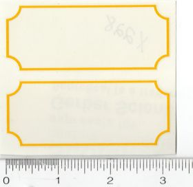 Decal Yellow Stripes (Pair)