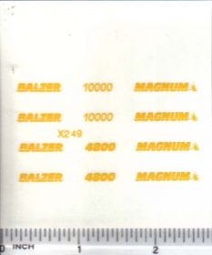 Decal 1/64 Balzer & Magnum, 4800, 10000 Set