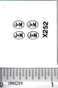 Decal 1/64 J & M