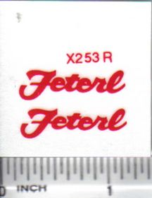 Decal 1/16 Feterl - Red
