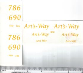 Decal 1/16 Art's Way 690, 786